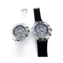 Load image into Gallery viewer, HL812 Transparent Automatic Chronograph - Men's Rubber Watch - Bejewel