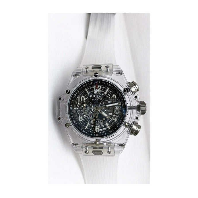 HL812 Transparent Automatic Chronograph - Men's Rubber Watch - Bejewel