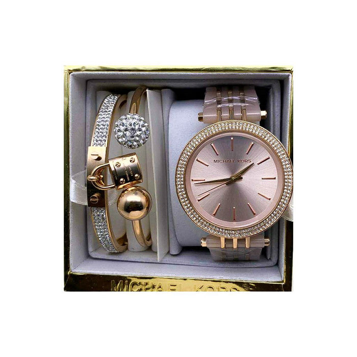 MK892 Automatic - Women's Chain Watch And Bracelet Set - Bejewel