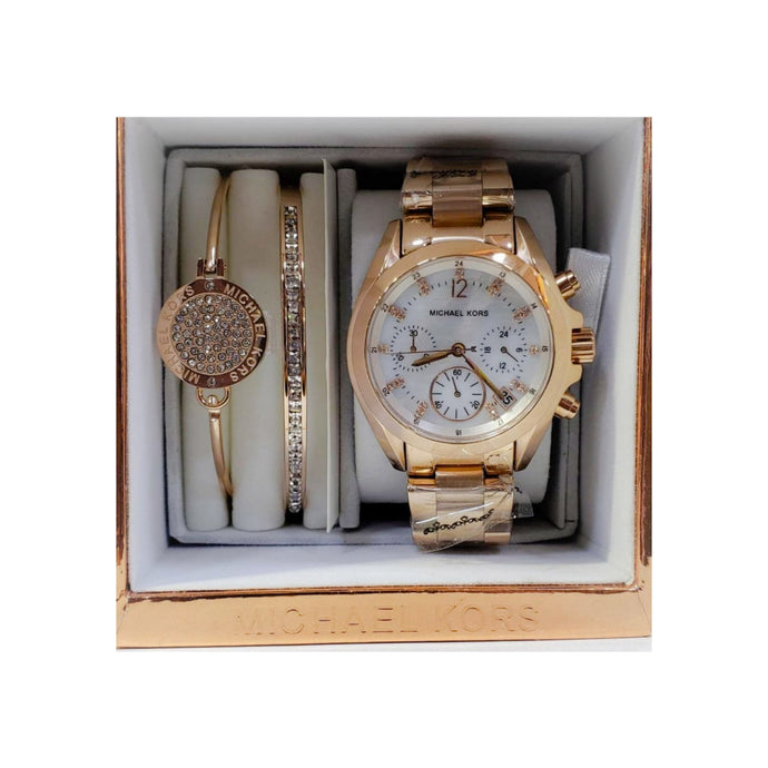 MK433 Automatic Chronograph - Women's Chain Watch And Bracelet Set - Bejewel
