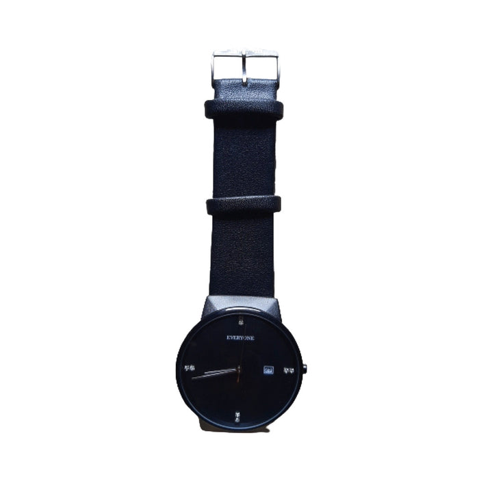 EV375 Unisex Leather Watch - Bejewel