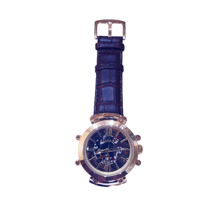 BG629 Men's Leather Watch - Bejewel
