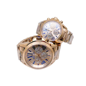 MK721 Automatic Chronograph - Couples Chain Watch - Bejewel