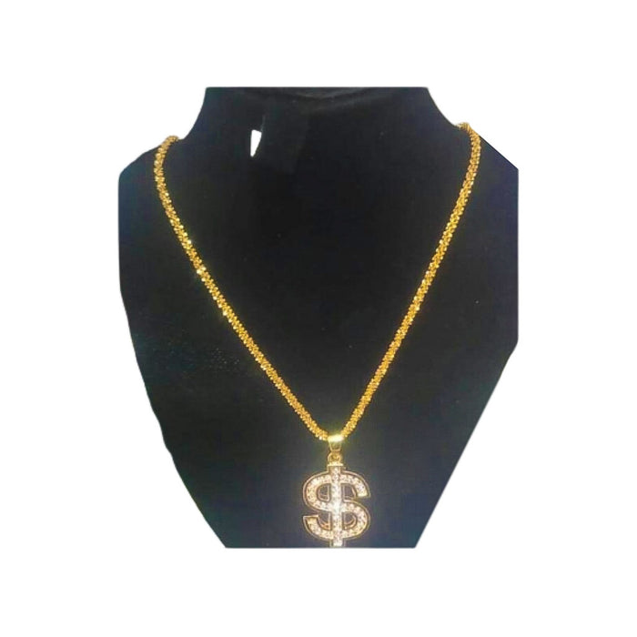 Dollar pendant fashion necklace - Bejewel