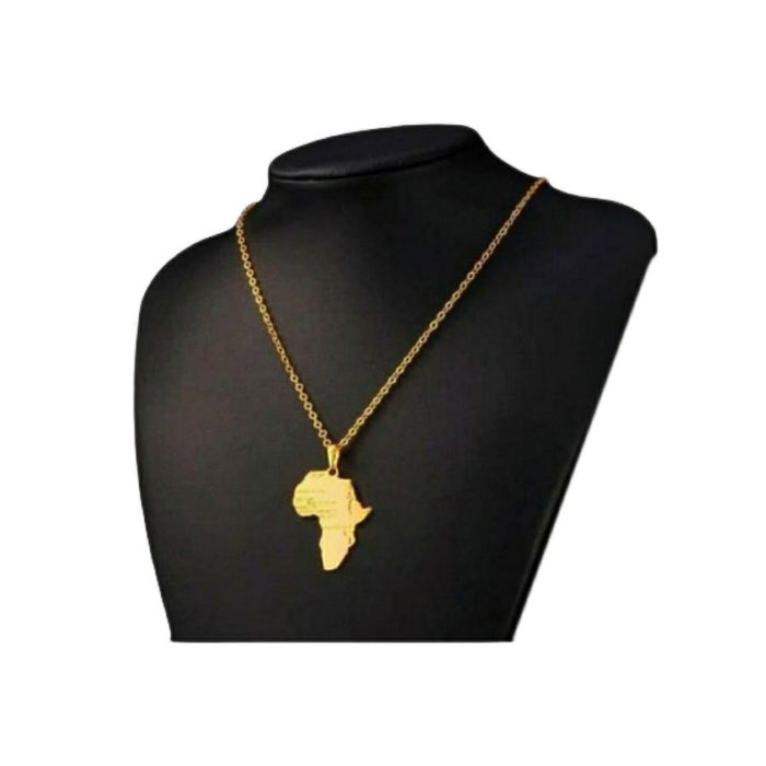 UN379 nigerain map pendant unisex fashion necklace - Bejewel