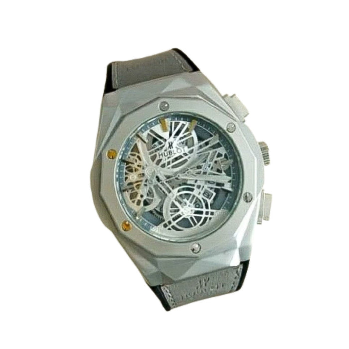 HL630 Men's Leather Watch - Bejewel