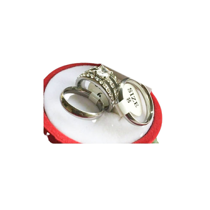 WR728 Couples Wedding Ring - Bejewel