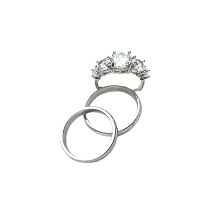 WR138 Couples Wedding Ring - Bejewel