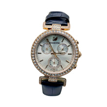 Load image into Gallery viewer, SV372 Automatic Chronograph - Women's Leather Watch - Bejewel