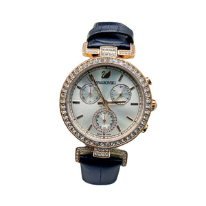 SV372 Automatic Chronograph - Women's Leather Watch - Bejewel