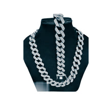 Load image into Gallery viewer, FN751 Cuban Link - Men's Fashion Necklace And Bracelet Set - Bejewel