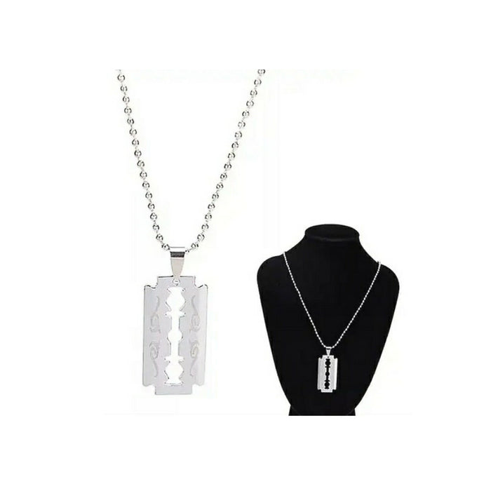 FN227 Razor Pendant - Unisex Fashion Necklace - Bejewel