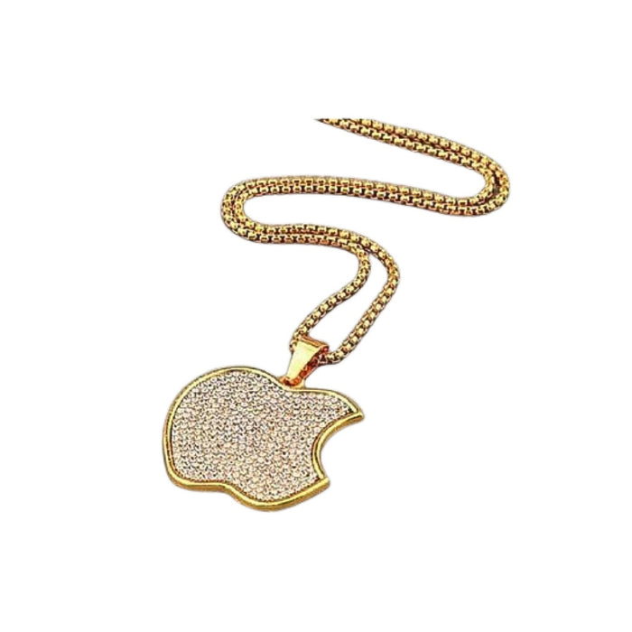 FN374 Apple Pendant - Unisex Fashion Necklace - Bejewel