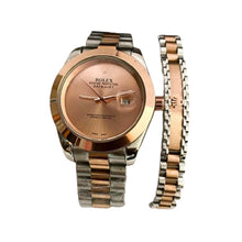Load image into Gallery viewer, RL508 Unisex Chain Watch + Bracelet Set - Bejewel