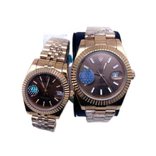 Load image into Gallery viewer, Rolex Oyster RO452 Automatic - Couples Chain Watch - Bejewel