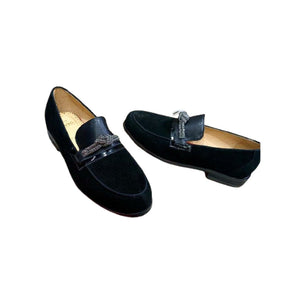 MS218 Men's Suede Loafer Shoe - Bejewel