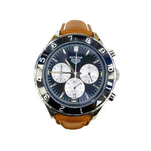 Tag Heuer Autavia TH750 Chronograph - Men's Leather Watch - Bejewel