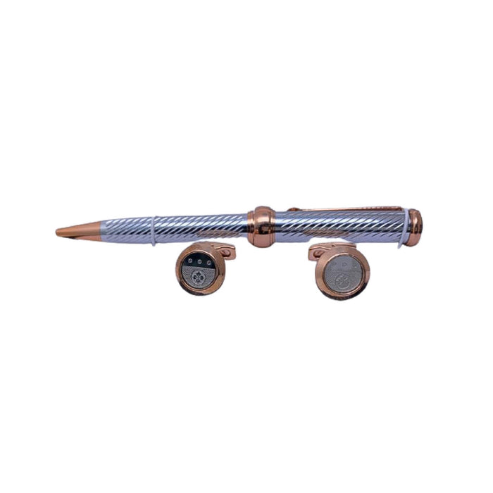 CB231 Cufflink And Biro Set - Bejewel