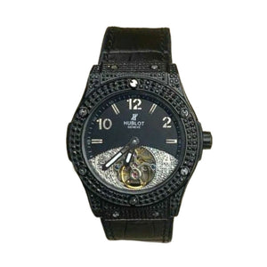 HB696 Automatic - Men's Leather Watch - Bejewel