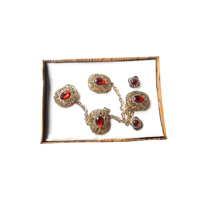 ES640 etibo native stud and cufflinks set - Bejewel