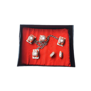 ES157 etibo native stud and cufflinks set - Bejewel