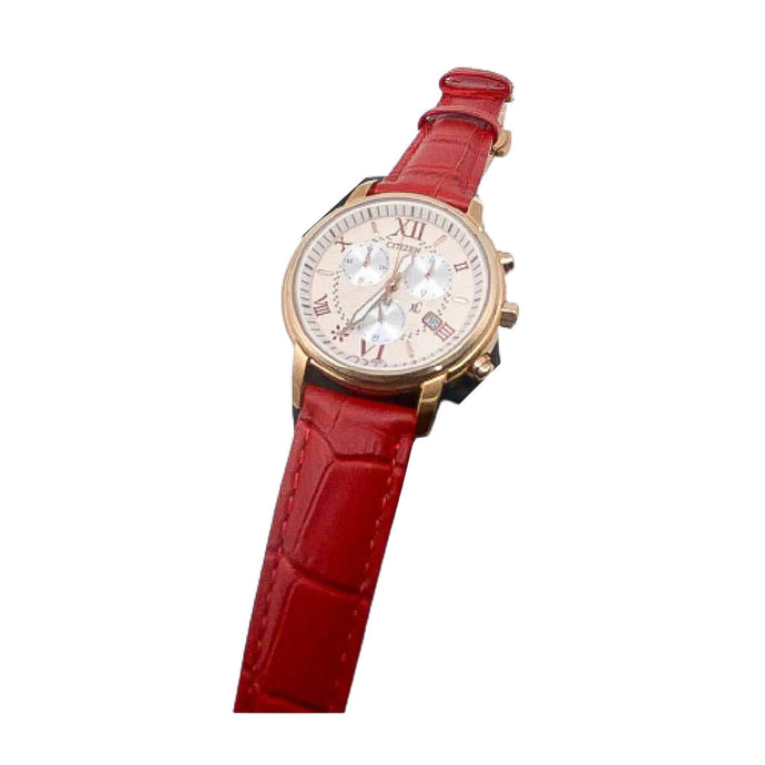 Citizen CZ863 Chronograph - Unisex Leather Watch - Bejewel