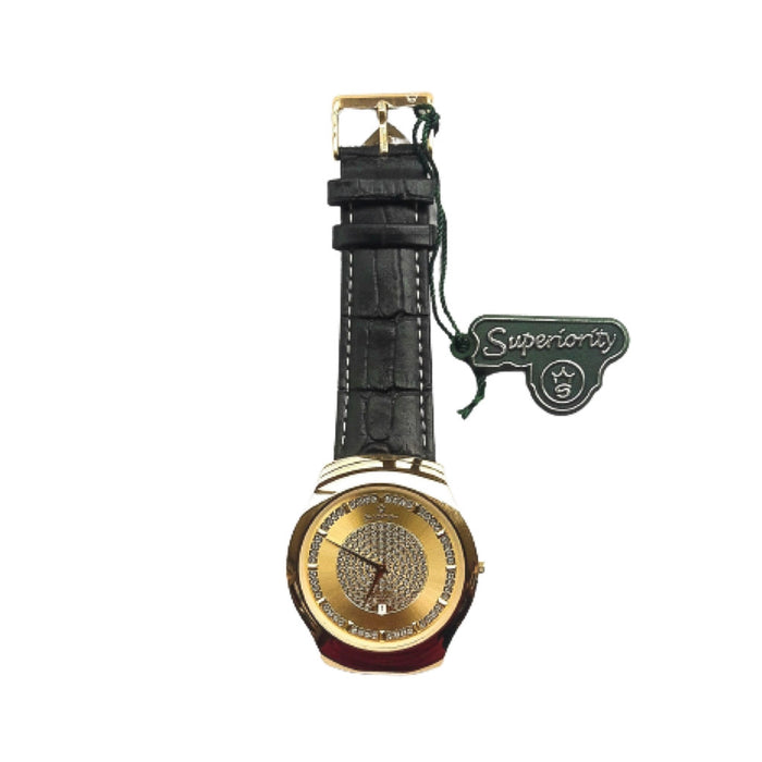 Superior SR606 men's leather watch - Bejewel