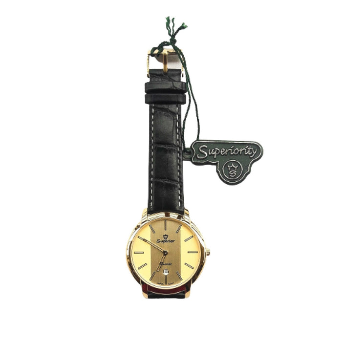 Superior SR792 unisex leather watch - Bejewel
