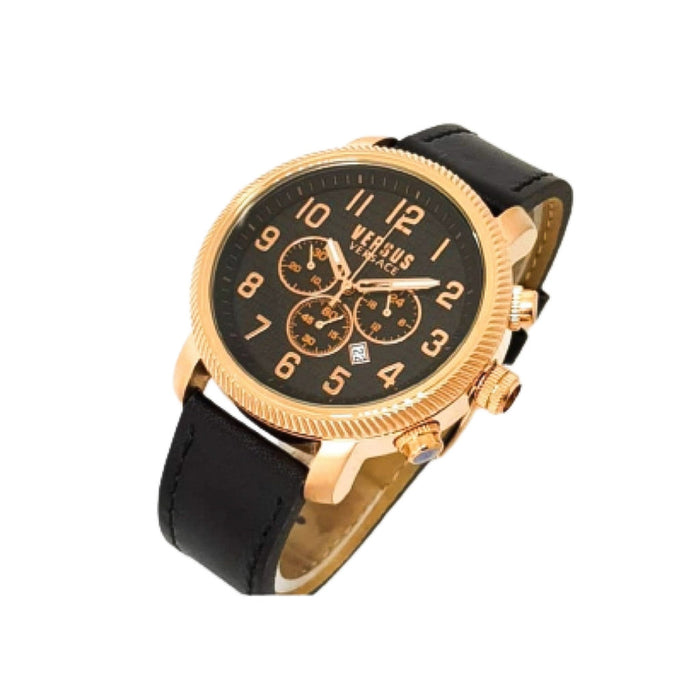 Versace VS675 Chronograph - Unisex Leather Watch - Bejewel