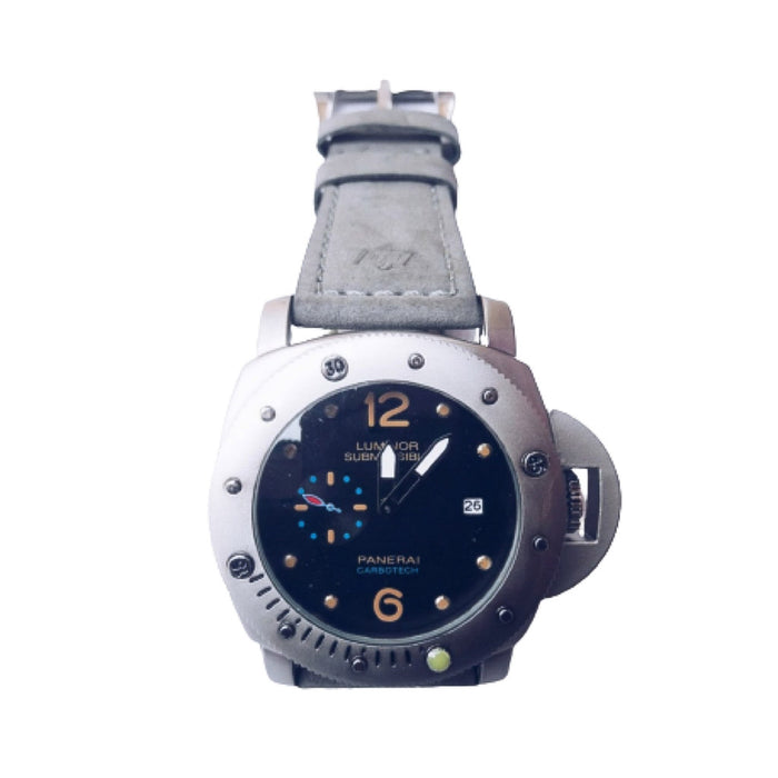 Luminor Submersible - Men's Leather Watch - Bejewel