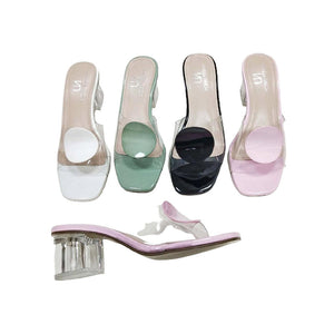 WS530 Stool Heel - Women's Transparent Slider - Bejewel
