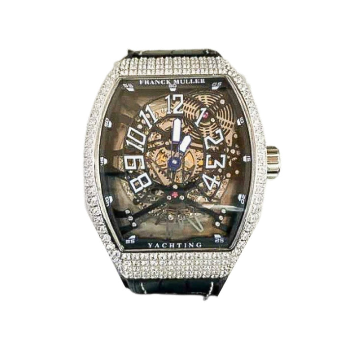 Franck Muller FM820 Automatic - Men's Leather Watch - Bejewel