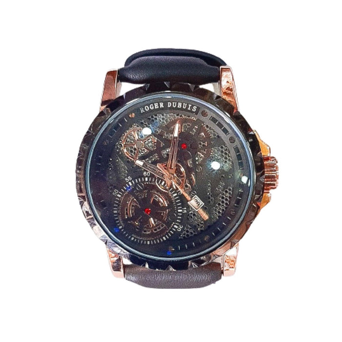 Roger Dubuis RD677 Men's Leather Watch - Bejewel