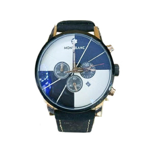 MB869 Chronograph - Men's Leather Watch - Bejewel