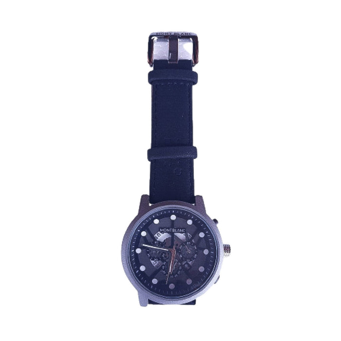 Montblanc MB304 unisex leather watch - Bejewel
