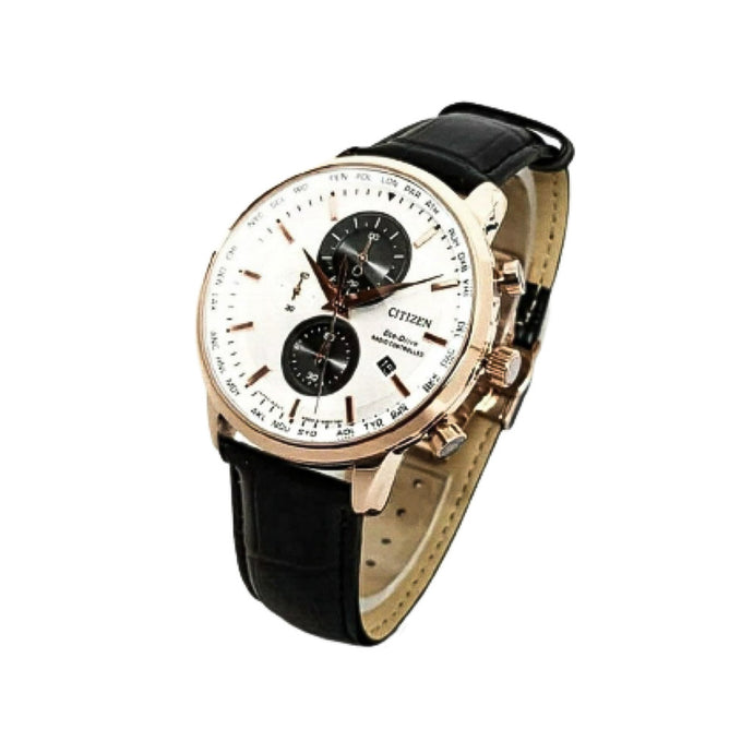 Citizen CZ977 Chronograph - Men's Leather Watch - Bejewel