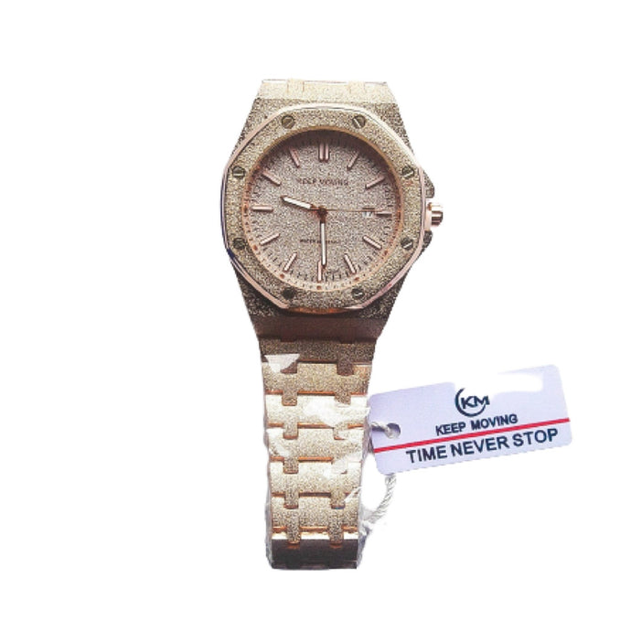 Keep Moving KM846 Ice - Unisex Chain Watch - Bejewel