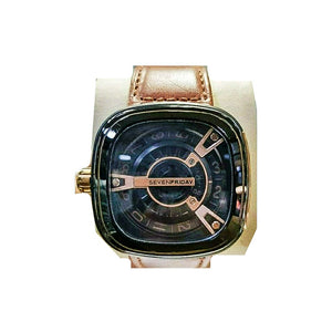 Seven Friday men's leather strap watch - Bejewel