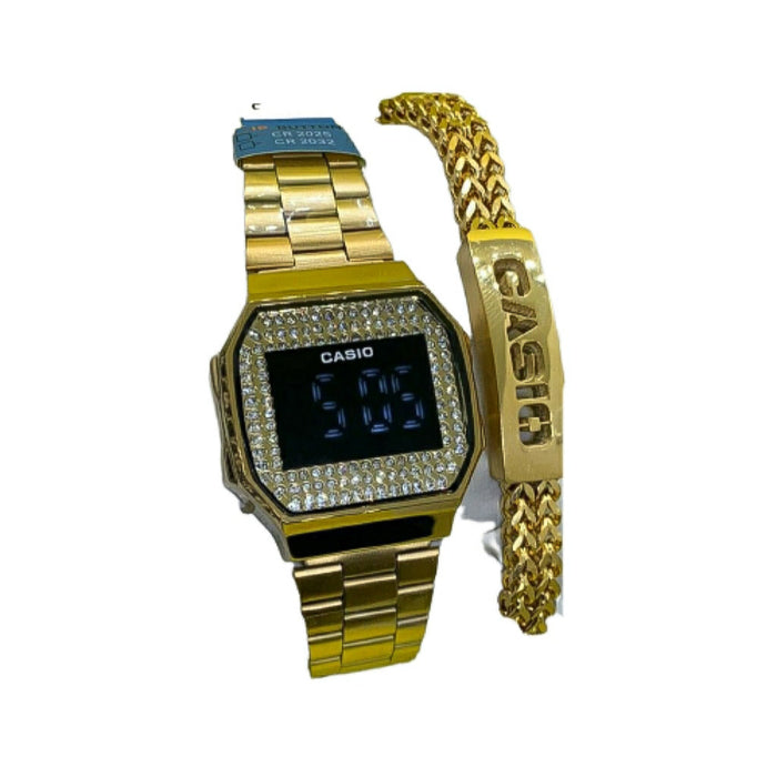 CS411 Touch Screen - Unisex Chain Watch And Bracelet Set - Bejewel