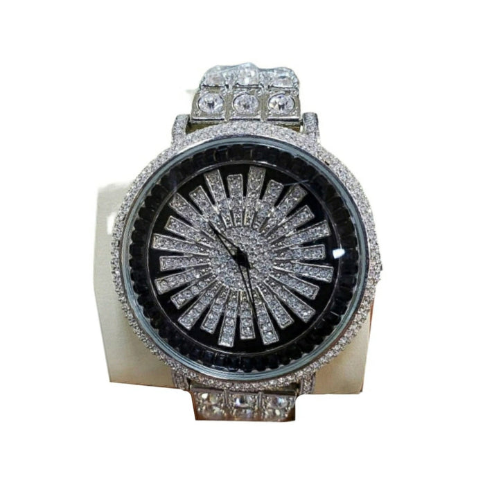 FC476 Iced Spinning Dial - Unisex Chain Watch - Bejewel