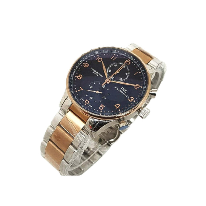IWC72 Chronograph - Men's Chain Watch - Bejewel