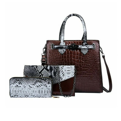 HB828 Women's Fashion Handbag And Purse Set - Bejewel