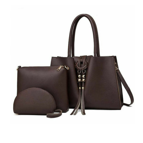 HB409 Women's Fashion Handbag And Purse Set - Bejewel
