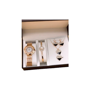 Anne Klein AN255 Women's Chain Watch And Jewelry Set - Bejewel