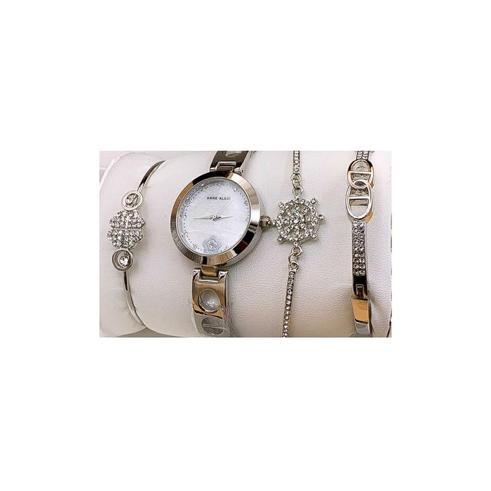 Anne Klein AN188 Women's Chain Watch + Bracelet Set - Bejewel
