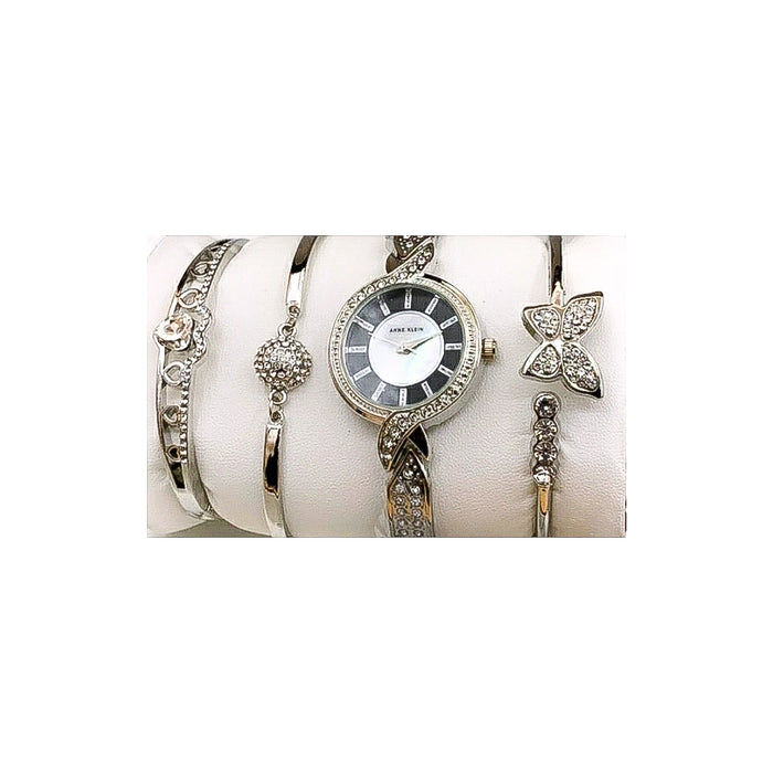 Anne Klein AN301 Women's Chain Watch + Bracelet Set - Bejewel