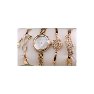 Anne Klein AN235 Women's Wristwatch And Bracelet Set - Bejewel