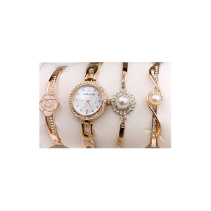 Anne Klein AK483 Women's Wristwatch And Bracelet Set - Bejewel