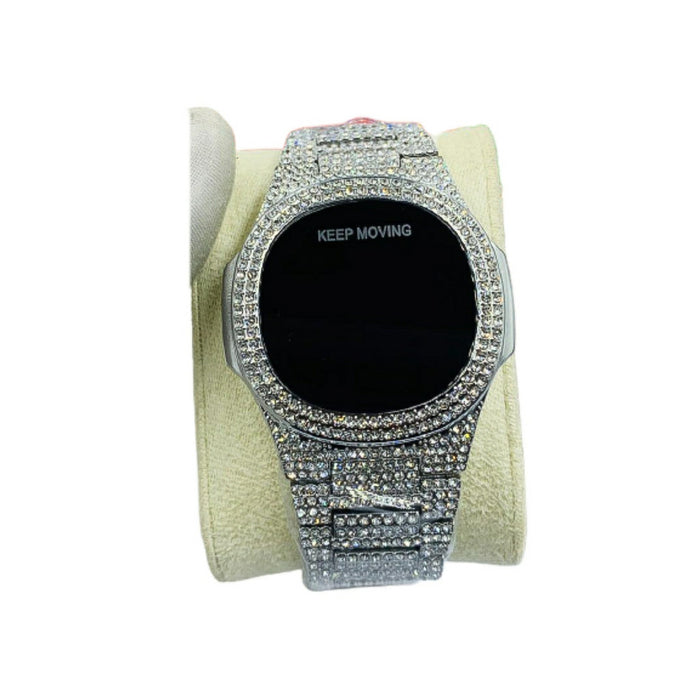 Keep Moving KM812 Touch Screen - Unisex Chain Watch - Bejewel