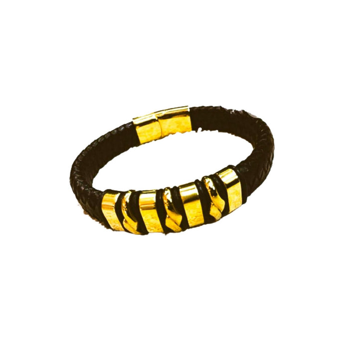 LB246 men's leather bangle - Bejewel